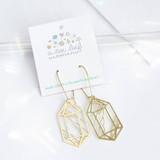 Crystal Double Point Earrings