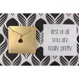 You're Pretty Gemstone Necklace