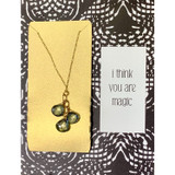You Are Magic Triple Gemstone Necklace