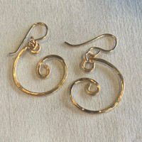 Small Nautilus Swirl Gold Filled Earrings
