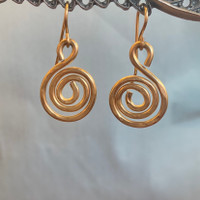 Small Spiral Gold Filled Earrings
