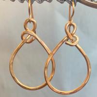 Elegant Twist Hoop Gold Filled Earrings