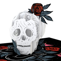 Pop-Up Card, Rose Skull