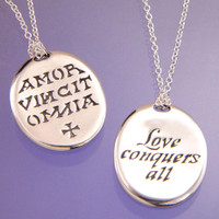 Amor Vincit Omnia Love Conquers All Necklace