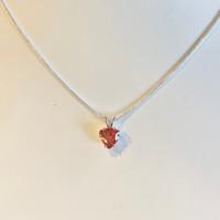Oregon Sunstone 8mm Trillion Pendant Necklace Silver