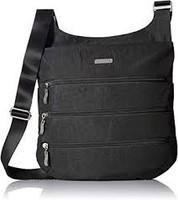 Big Zipper Bagg, Black with Sand Interior