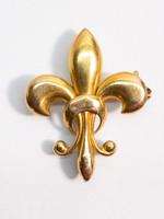 Antique Fleur-de-lis Pin in 18kt Gold