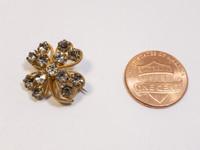 Victorian Rhinestone Four Leaf Clover Pin