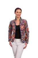 Classic Provence Reversible Jacket, French Blue