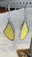 Eco-Friendly Yellow Butterfly Large Earrings