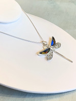 Eco-Friendly Dragonfly Butterfly Wing Necklace