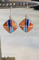 Multi Stone Inlay Earrings by Cathy Webster