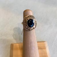 14k Antique Sapphire Ring, Size  3 1/2