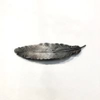 Feather Metal Barrette