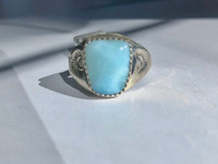 Native American Larimar Ring