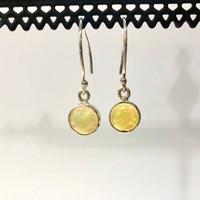 Circle Drop Opal Earrings