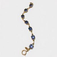 Square Purple Swarovski Crystal Bracelet