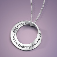 Two Roads Diverged Silver Mobius Necklace