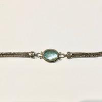Oval Chalcedony Bali Bracelet