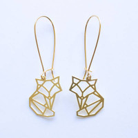 Fox Geometric Earrings