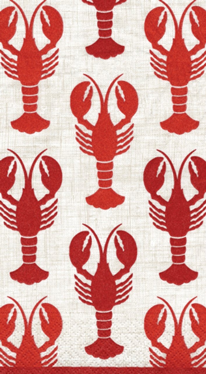Crawfish Beverage and Lunch Napkins and Guest Towels