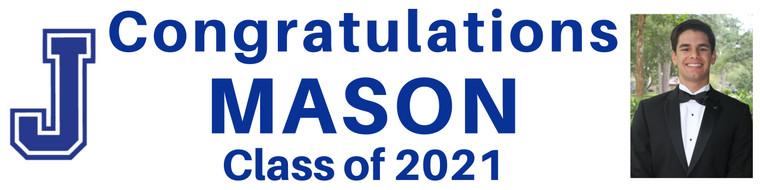 """Graduation Banner - Jesuit High School Picture - 15"""" x 60"""""""