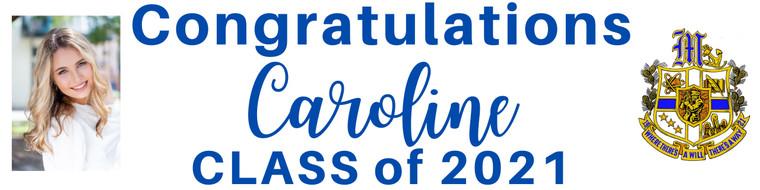 "Graduation Banner - Mandeville High Crest, Print or Cursive Personalized Photo - 15"" x 60"""