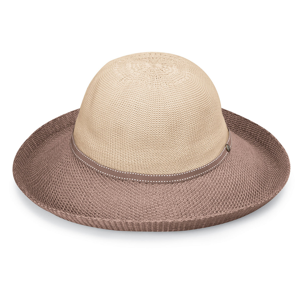 158a727af5be Wallaroo Womens Victoria Two-tone sun hat beige-mocha