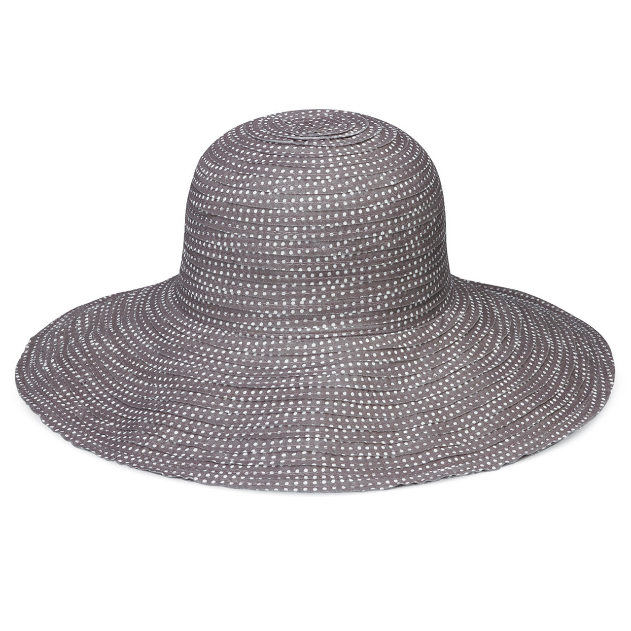 94eea6f567d Womens Wallaroo Scrunchie UPF50+ sun hat grey white dots