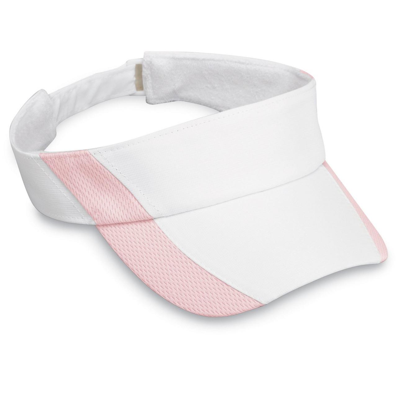 Womens wallaroo sports visor white pink 67be6f584bc5