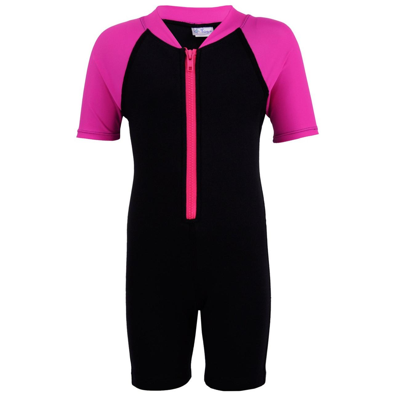 c1ec2ecf688f1 Tuga Girls UV Thermal Wetsuit Swimsuit Pink | Girls UV Clothing
