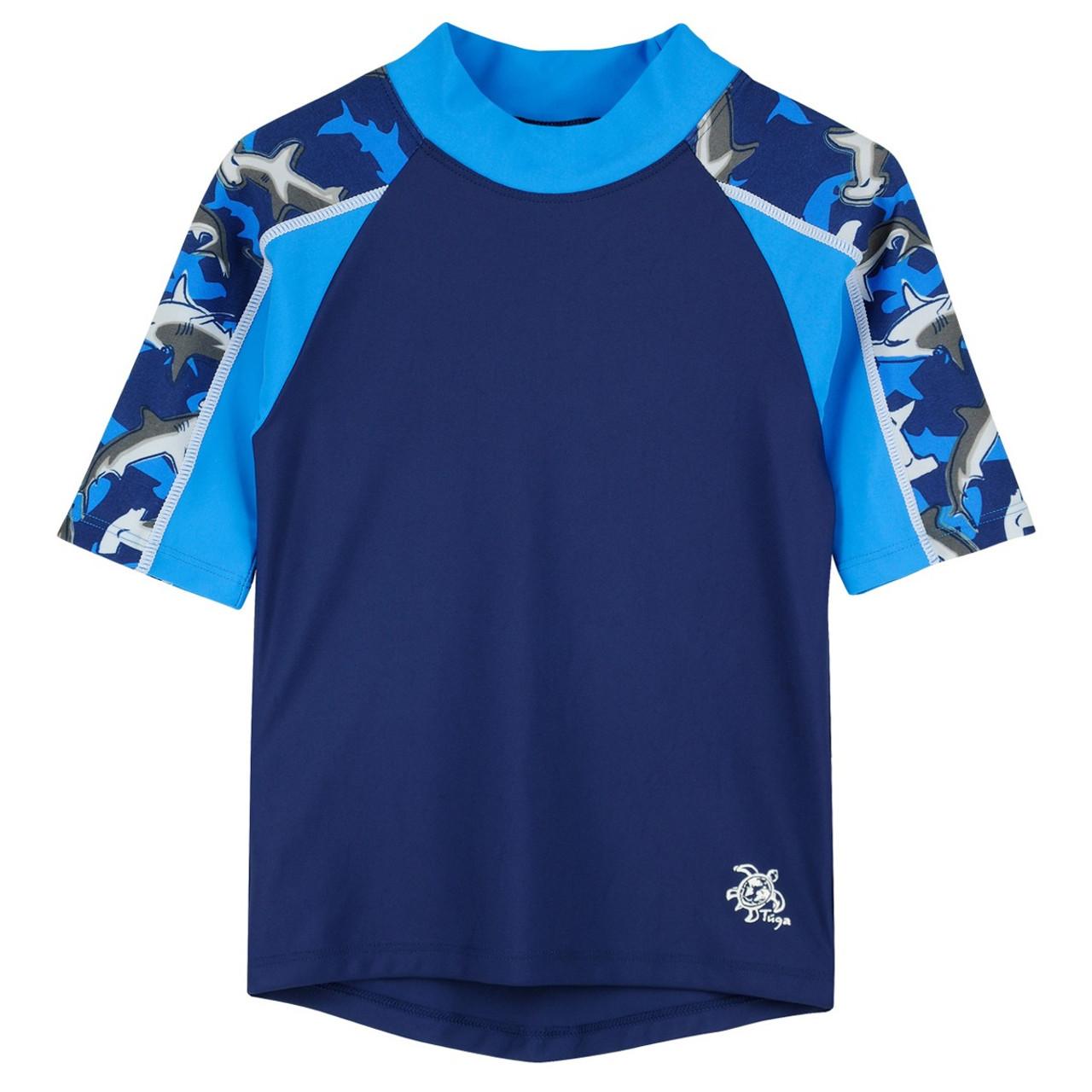 d430ad504c404 Boys Tuga Short Sleeve Swim Shirt 'Breaker' Surf | Boys UV Clothing