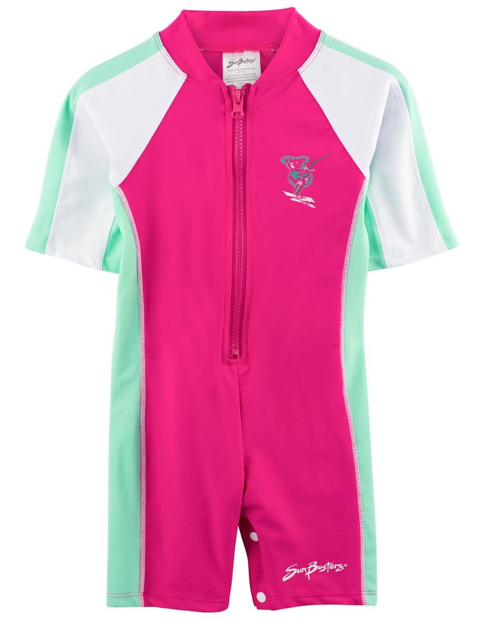 4fc2d33cb0181 Girls Sun Busters S/S UV 1-Piece Swimsuit Poppy | Girls UV Swimwear