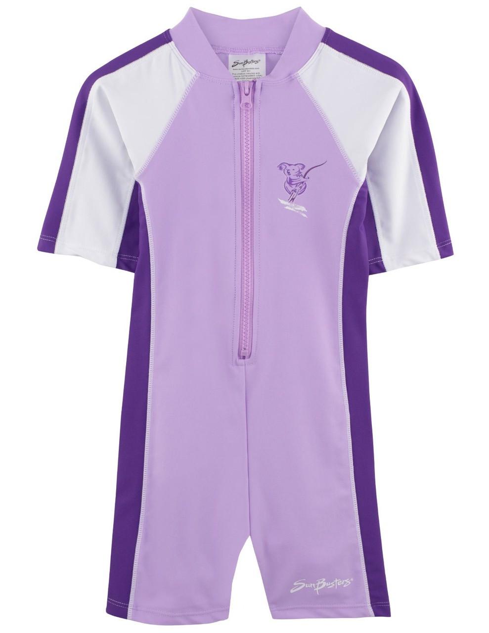 f5d0f385df774 Girls Sun Busters S/S UV 1-Piece Swimsuit Mimosa | Girls UV Swimwear