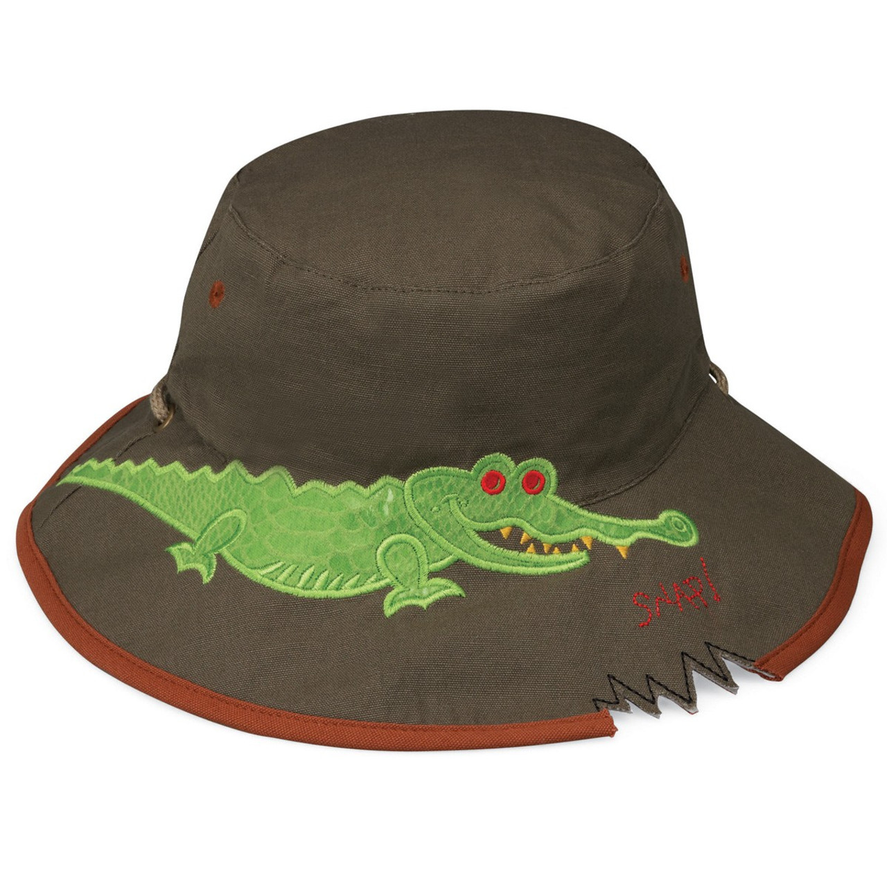 Wallaroo Boys UV UPF50 crocodile sun hat 589134a52225