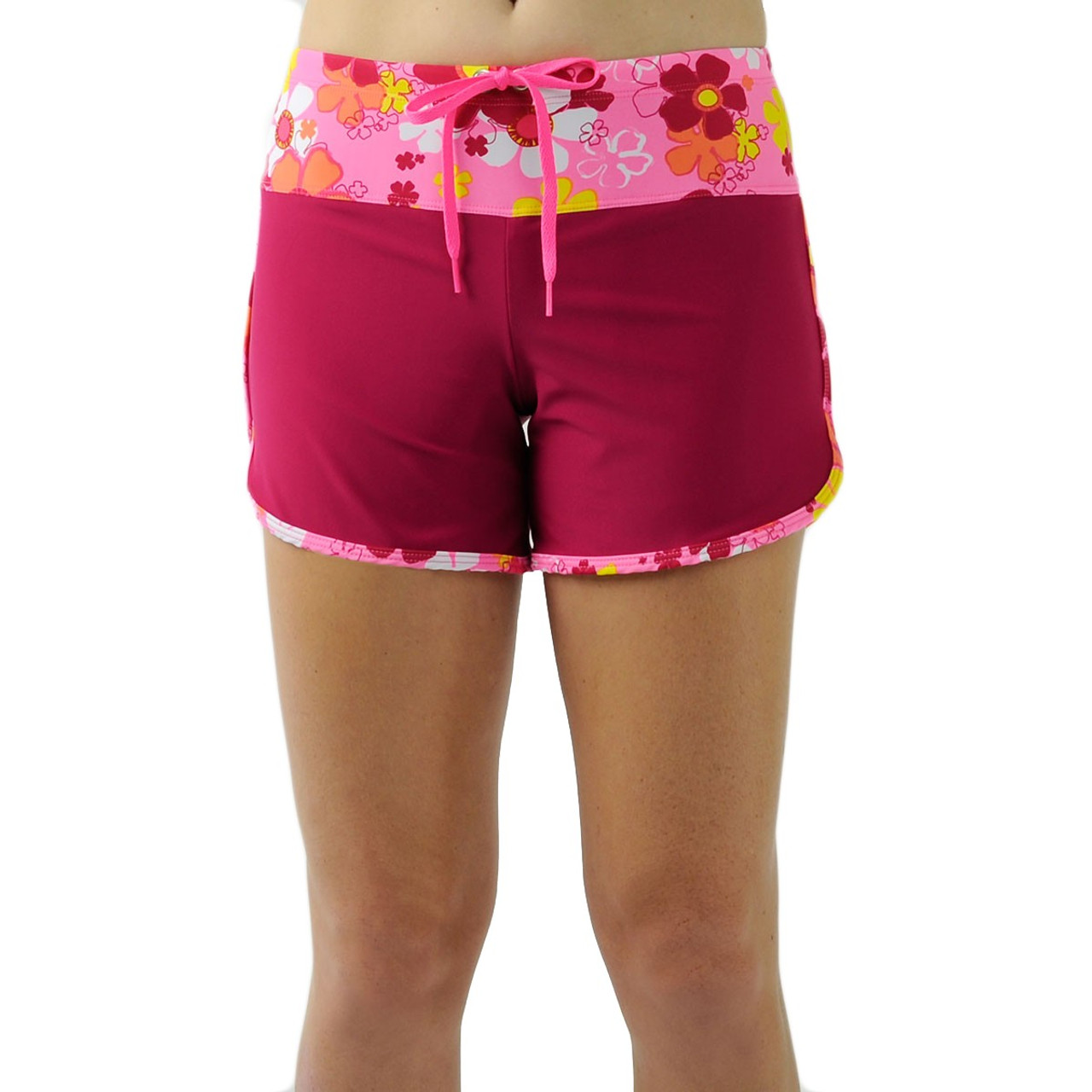 43f02c7db5 Tuga Womens UV Swim Shorts Daisy Pink | Womens UV Clothing