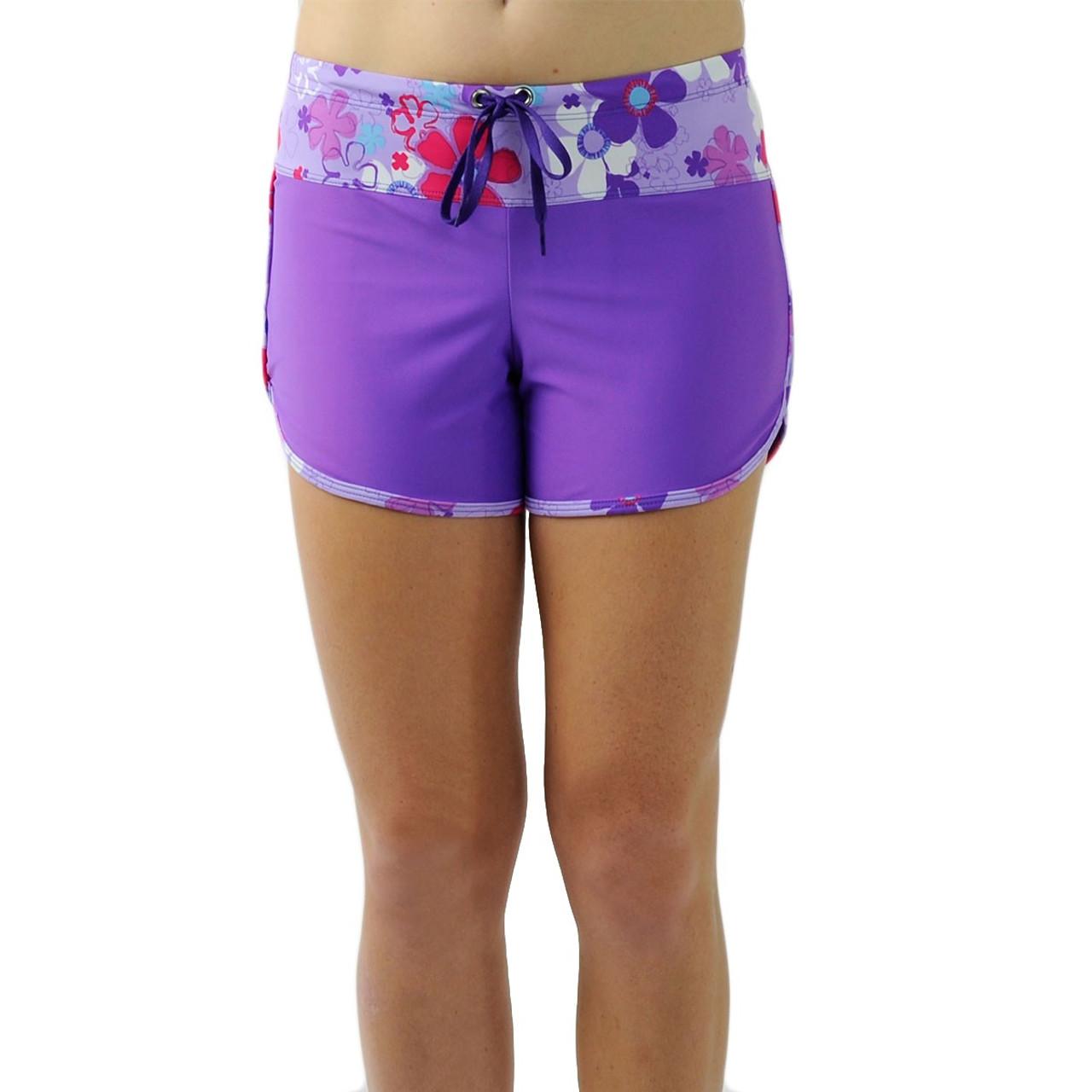 1e5513789a Tuga Womens UV Swim Shorts Daisy Purple | Womens UV Clothing