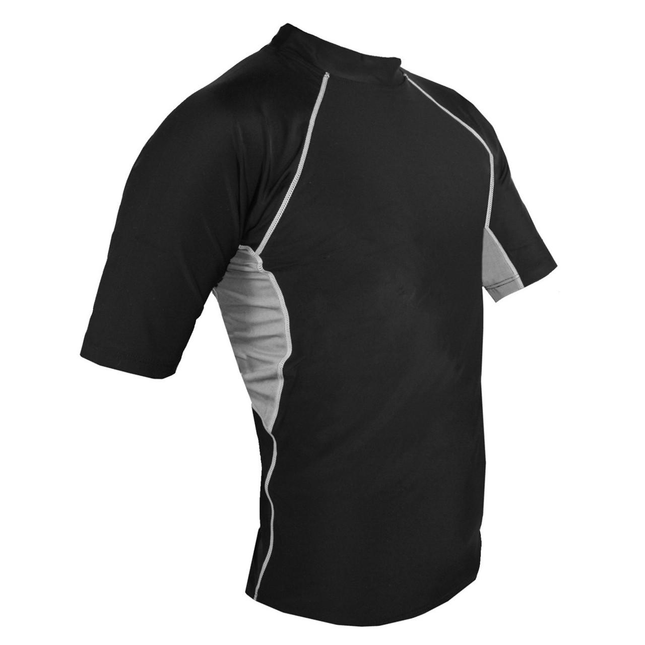 219e1c37c7 Mens Tuga Short Sleeve UV Swim Shirt Black | Mens UV Clothing