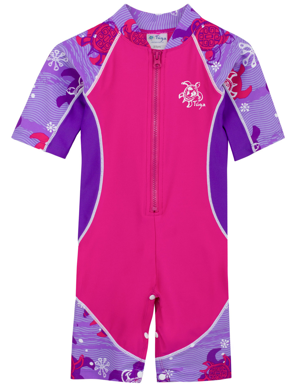 fc44e72a89abc Girls UV all-in-one swimsuit 'Low Tide' Purple Wave | Baby UV Clothing
