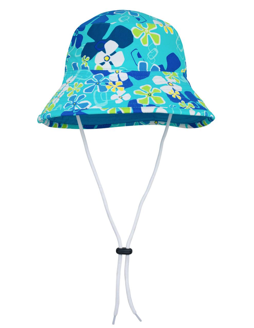 ca5fedca41304 Sun busters Girls UV reversible bucket hat retro ocean