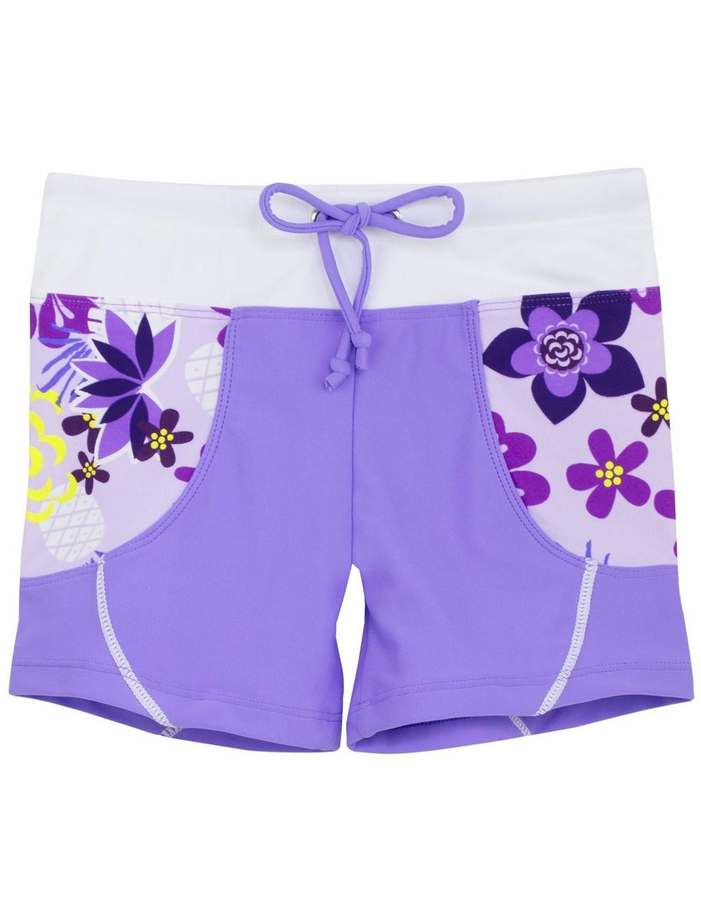 a3b9b410d6 Tuga Girls UV Short Swim Shorts Agate | Girls UV Clothing