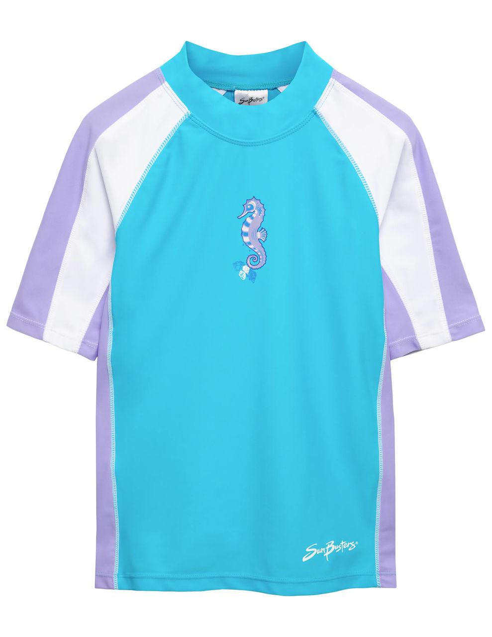 018faa0f55074 Girls Sun Busters S/S Rashguard Swim Shirt Maui Blue | Girls UV Clothing