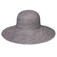 4 Womens Wallaroo Scrunchie UPF50+ sun hat grey white dots 7a2f087b39c