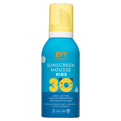 Evy spf30 kids sun screen mousse sun protection