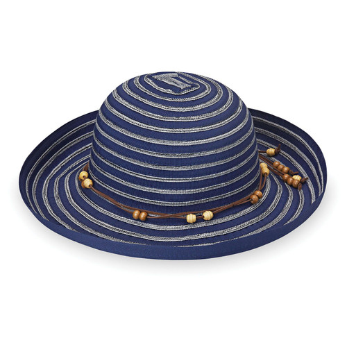 Womens Wallaroo Breton UPF50 Sun Hat navy