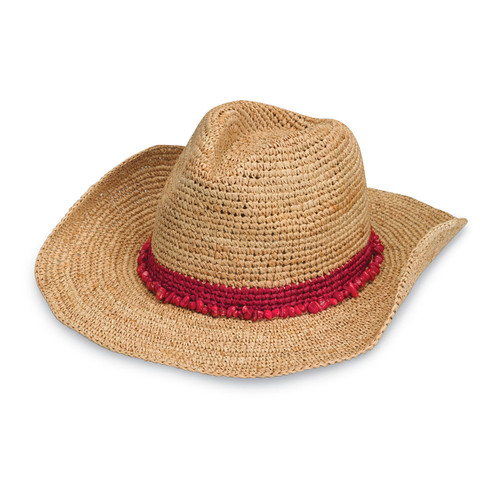 Wallaroo Womens Tahiti Cowboy Hat Red
