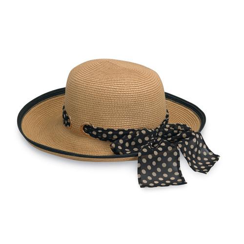 Wallaroo Julia UPF50+ Womens Sun Hat black-natural