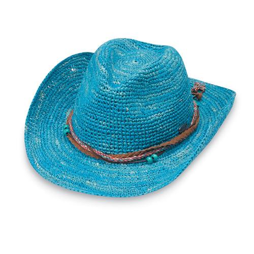 e0d275a6c475a Women s Wallaroo Catalina cowboy hat ocean blue. ‹ ›