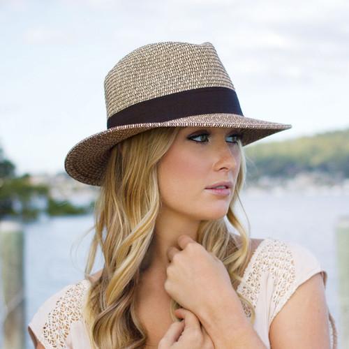 Women s Wallaroo Josie UPF50+ Fedora Sun Hat  ad0058d5137