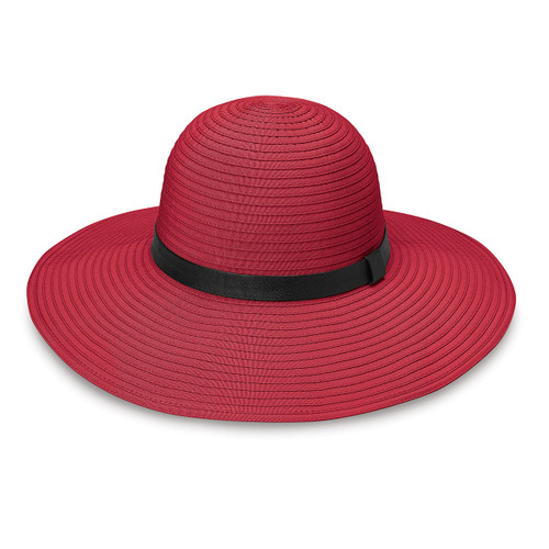 Womens Wallaroo UPF50 Harper sun hat cranberry